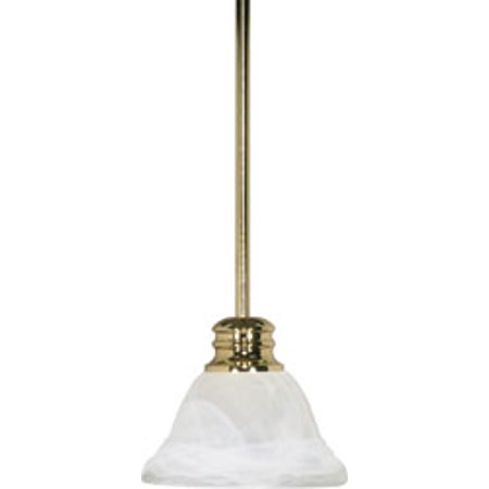 Replacement for 60/367 EMPIRE 1 LIGHT 7 INCH MINI PENDANT WITH HANG STRAIGHT CANOPY POLISHED BRASS TRANSITIONAL (Polished Brass Mini Pendant)