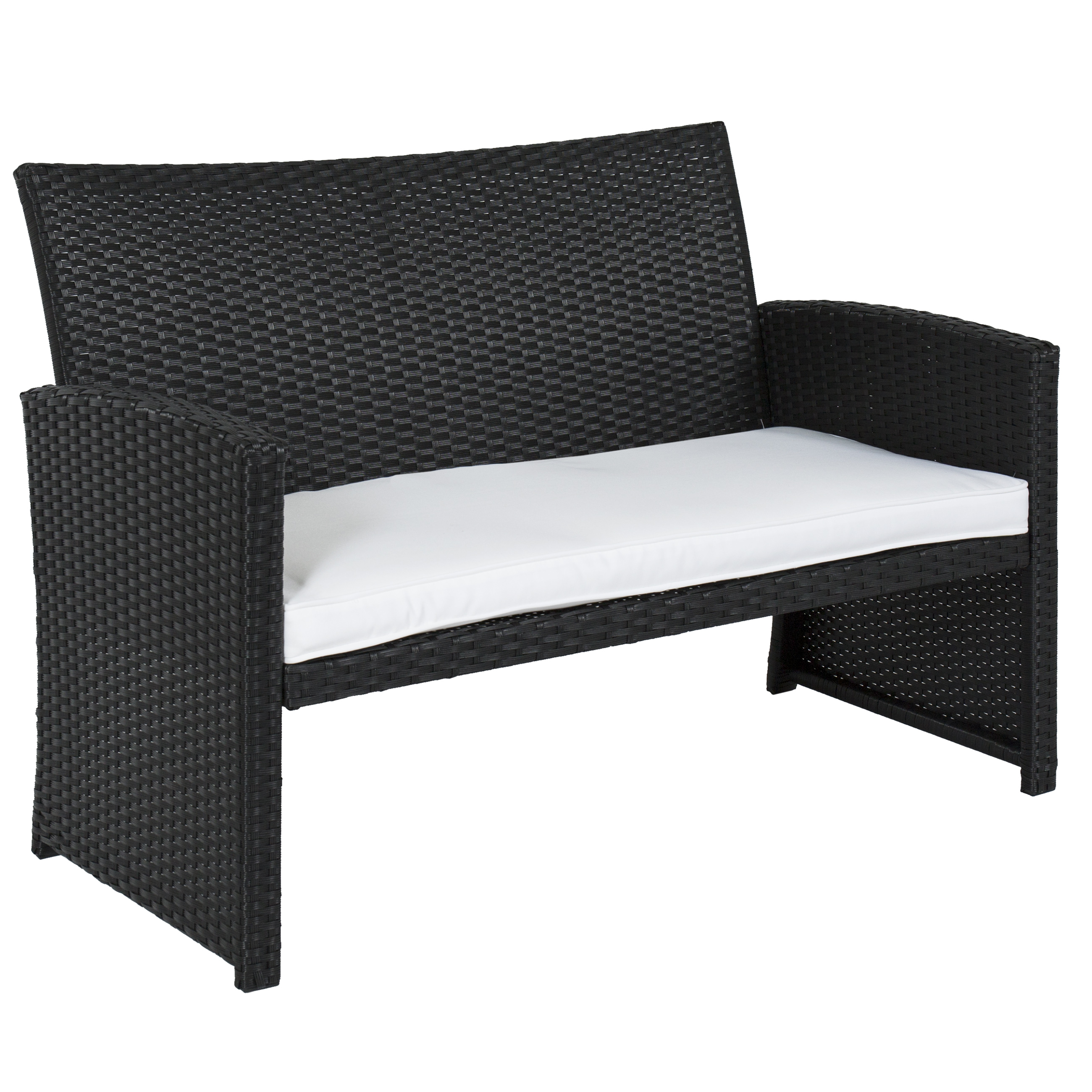 Best Choice Products Outdoor Garden Patio Cushioned Seat Black