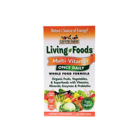 Living Multivitamin - Country Farms Living Foods Daily Multivitamin Tablets, 60 Ct, 60 Servings