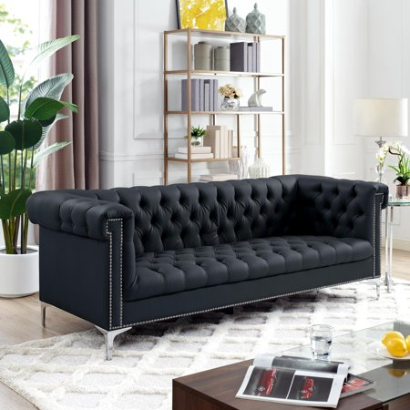 Inspired Home Edward Faux Leather Sofa ()