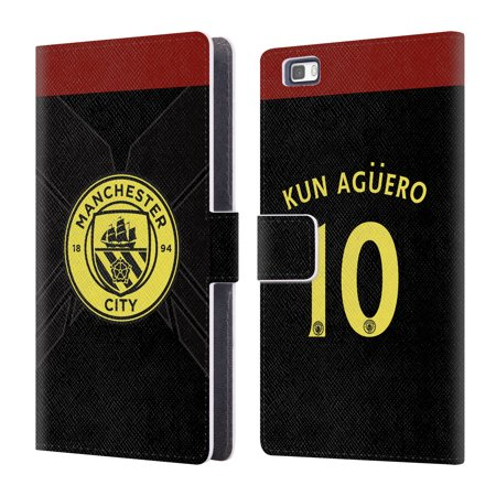 OFFICIAL MANCHESTER CITY MAN CITY FC AWAY KIT 2016/17 2 LEATHER BOOK WALLET CASE COVER FOR HUAWEI PHONES 2