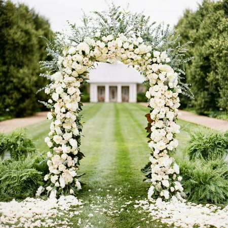 GZYF 7.9 Ft Metal Wedding Arch Garden Arch for Outdoor Party Prom Beach Garden Ceremony Floral Decoration Green, For Mother's Day - Decorations For Prom