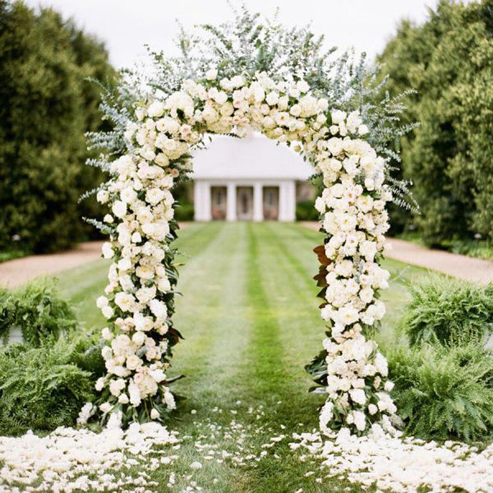 GZYF 7.9 Ft Metal Wedding Arch Garden Arch For Outdoor Party Prom Beach  Garden Ceremony Floral