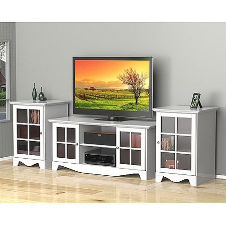 Nexera Pinnacle HEC Entertainment Center for TVs up to 56;, White