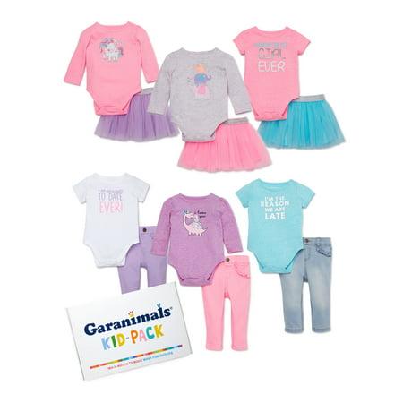 Garanimals Baby Girl Mix & Match Outfits Kid-Pack Gift Box, 12-pc