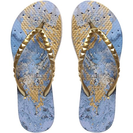 Showaflops Women's Antimicrobial Shower and Water Sandals - Blue Grotto
