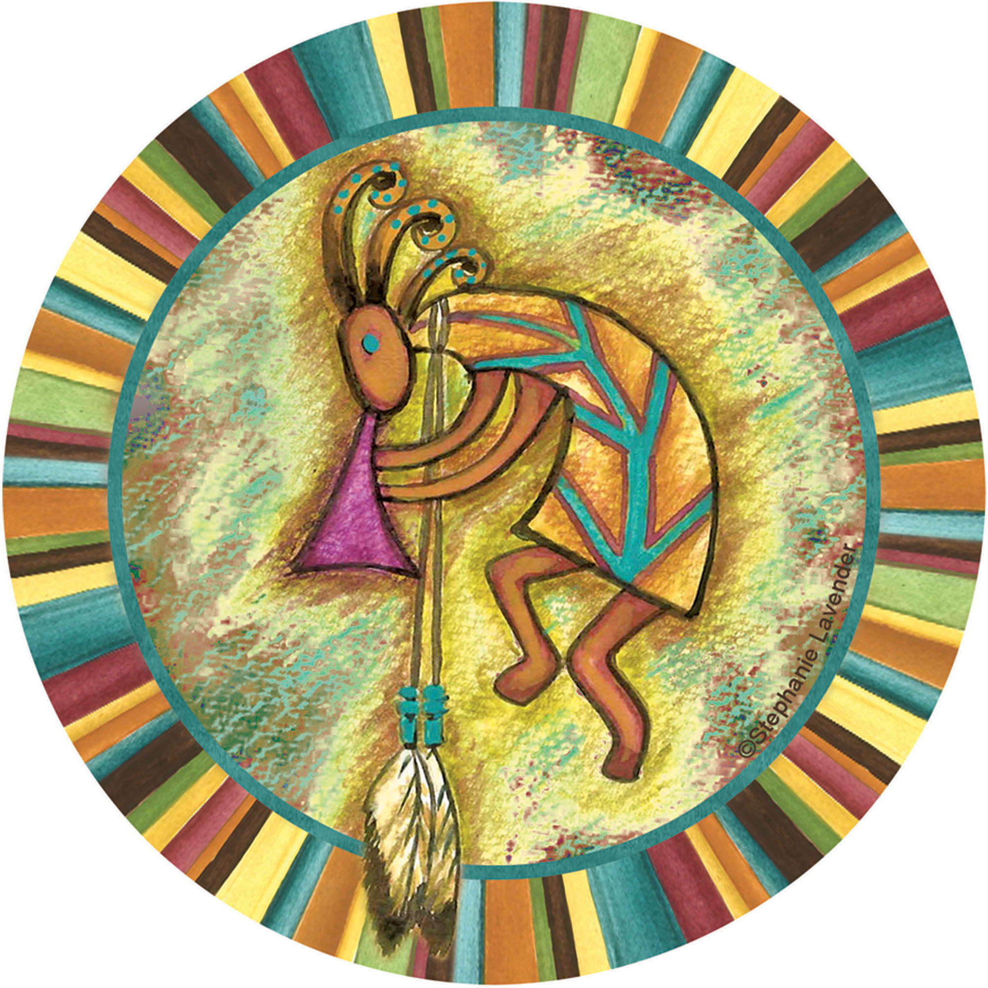 Thirstystone Occasions Drink Coasters, Kokopelli
