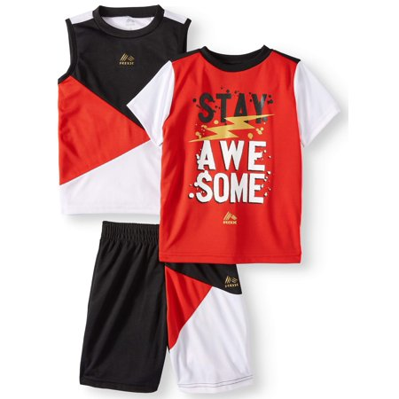 RBX Graphic Tee, Muscle Tank, and Short, 3-Piece Outfit Set (Little Boys & Big Boys) (Little Boy Ring Bearer Outfits)