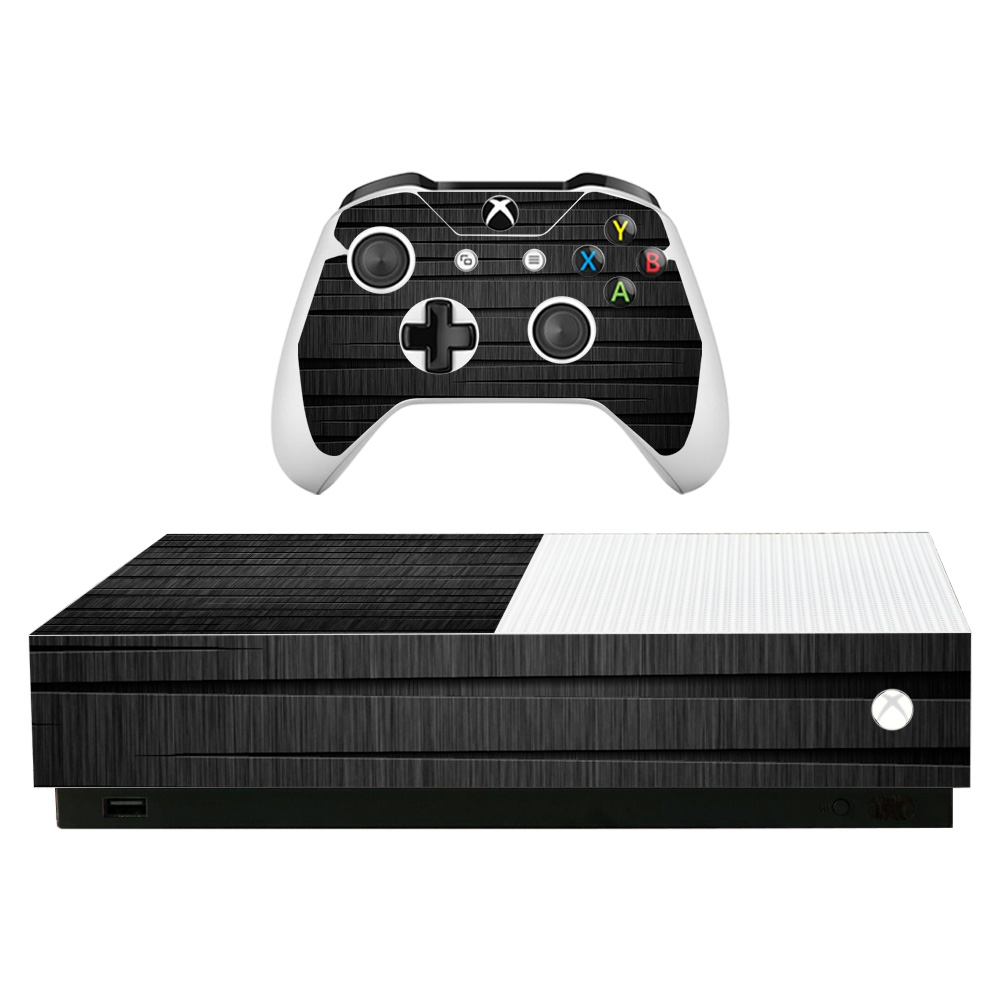 Cover// Wrap for Microsoft Xbox One S Xbox One S Stained Dark Wood Console Skin