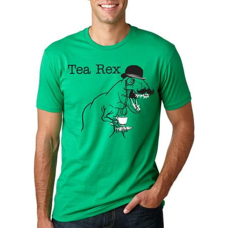 Crazy Dog TShirts - Mens Tea Rex T Shirt Funny Graphic Tyranosaurus T-Rex Dinosaur Pun Tee For Guys