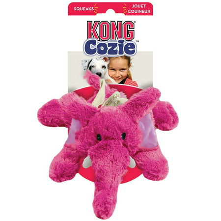 - KONG Cozie Elmer Elephant Dog Toy, Medium