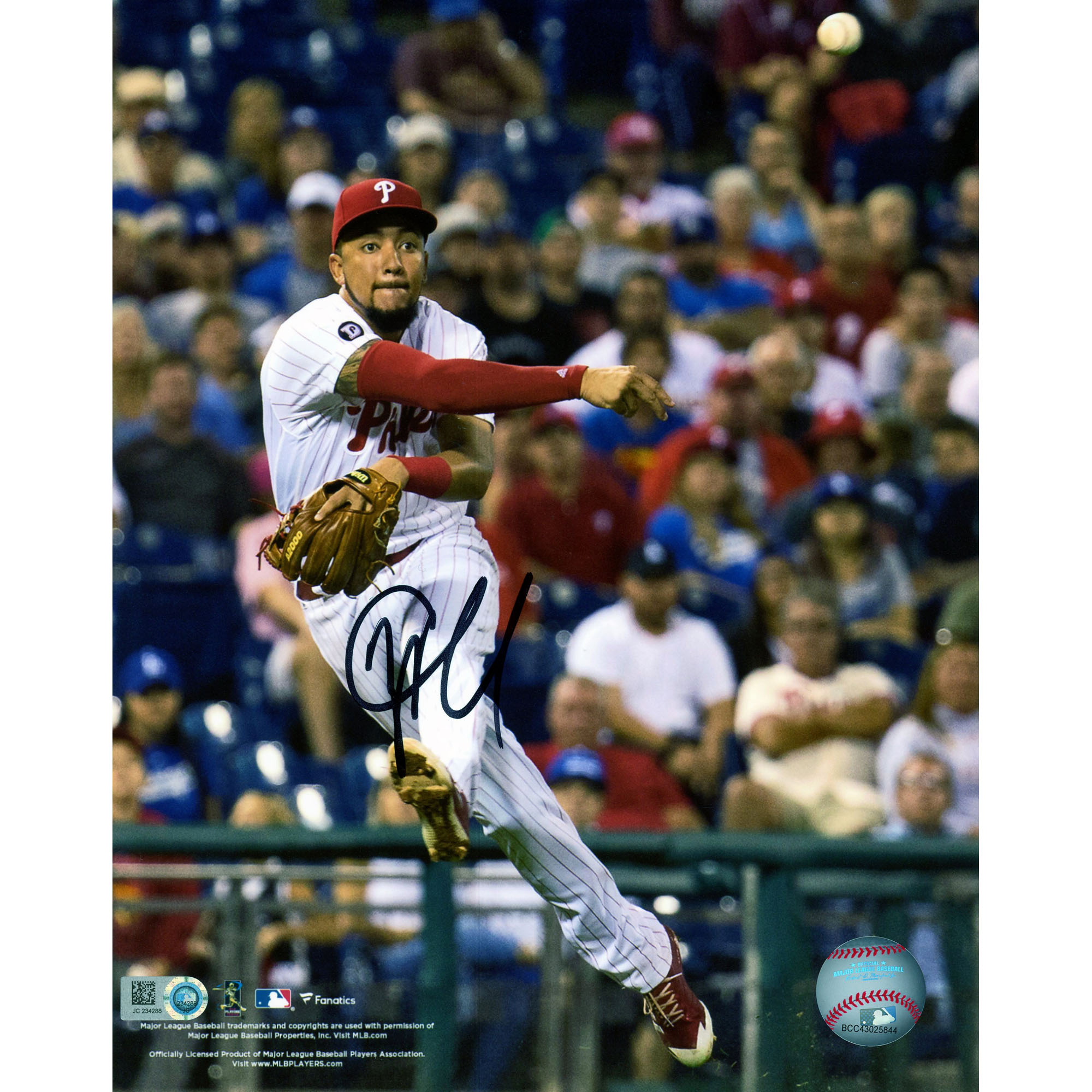 "JP Crawford Philadelphia Phillies Fanatics Authentic Autographed 8"" x 10"" Throwing Ball Photograph - No Size"