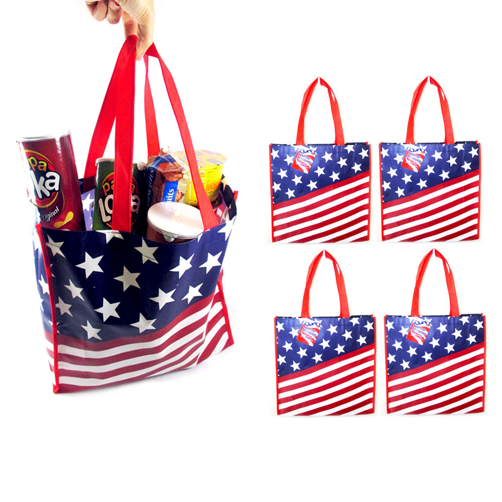 5 USA Flag Shopping Bag Large Tote Storage Reusable Shopping Groceries Laundry  sc 1 st  Walmart & 5 USA Flag Shopping Bag Large Tote Storage Reusable Shopping ...