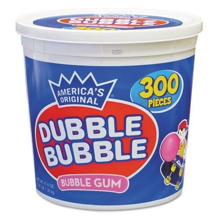 Dubble Bubble Bubble Gum, Original Pink, 300/Tub -TOO16403](Pink Bubblegum)