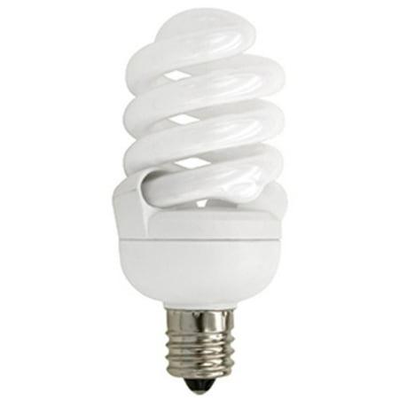 TCP 4T213C41K Single 13 Watt Frosted T2 Candelabra (E12) Compact Fluorescent Bulb - 4100K