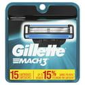 15 Ct Gillette Mach3 Mens Razor Blade Refills