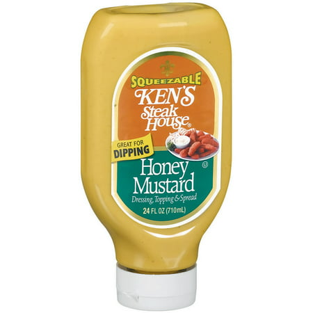 (2 Pack) Ken's Steak House Squeezable Honey Mustard, 24 (Honey Mustard Dressing)