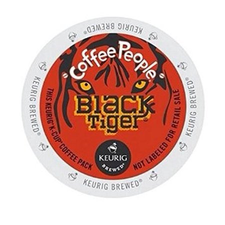 Coffee People Black Tiger Extra Bold Coffee K-Cups, 24/Box -DIE60052107