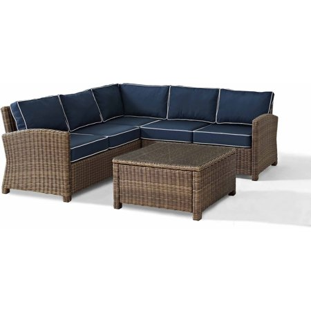 Crosley Furniture Biltmore 4 Piece Outdoor Wicker Seating
