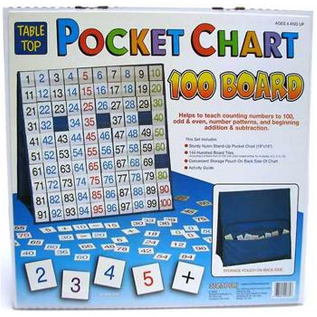 Patch Products 760 Tabletop Pocket Chart - 100 Board