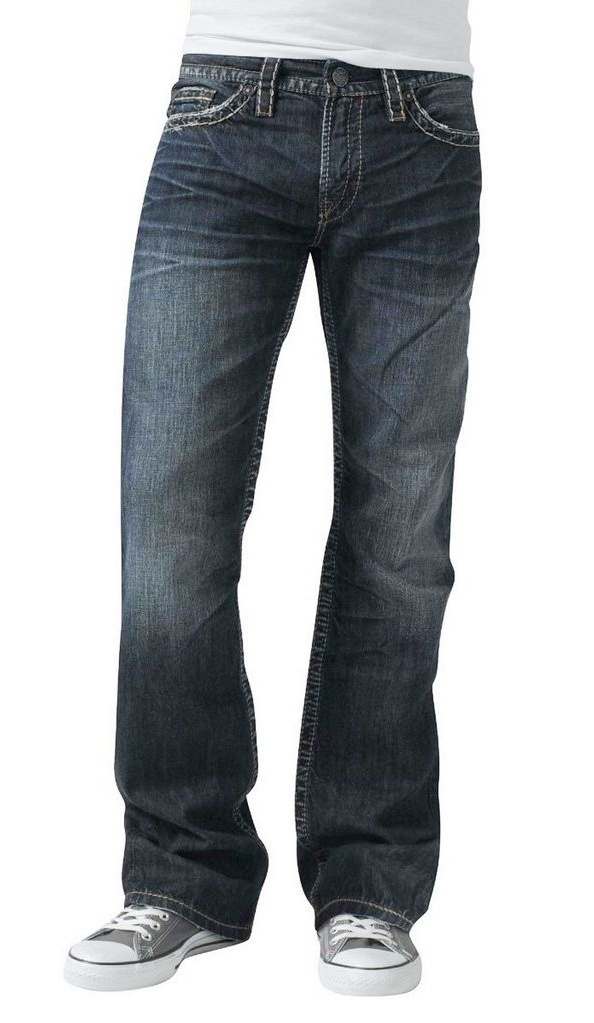 41f8838d Silver Jeans Denim Mens Nash Heritage Faded Dark Wash M2434LJB482