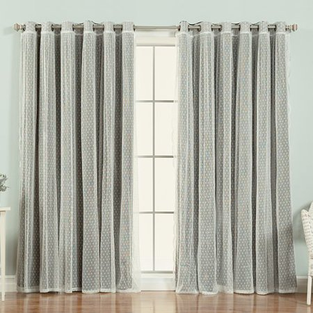 Best Home Fashion, Inc. Mix and Match Polka Dots Blackout Thermal Grommet Single Curtain Panel ()