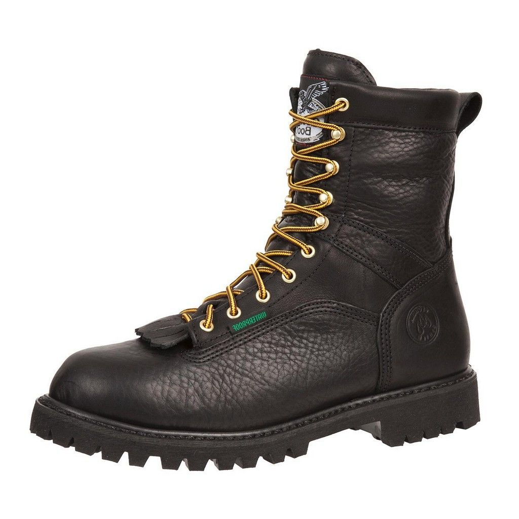 "Georgia Boot Work Mens 8"" Waterproof Goodyear Lace Logger Black G8010 by Georgia Boot"