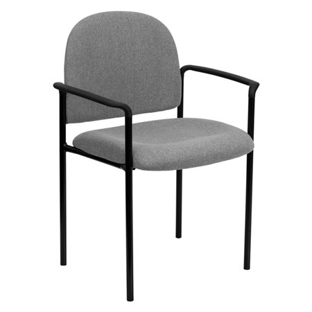 Gray Fabric Comfortable Stackable Steel Side Chair with (Fabric Comfortable Stackable)