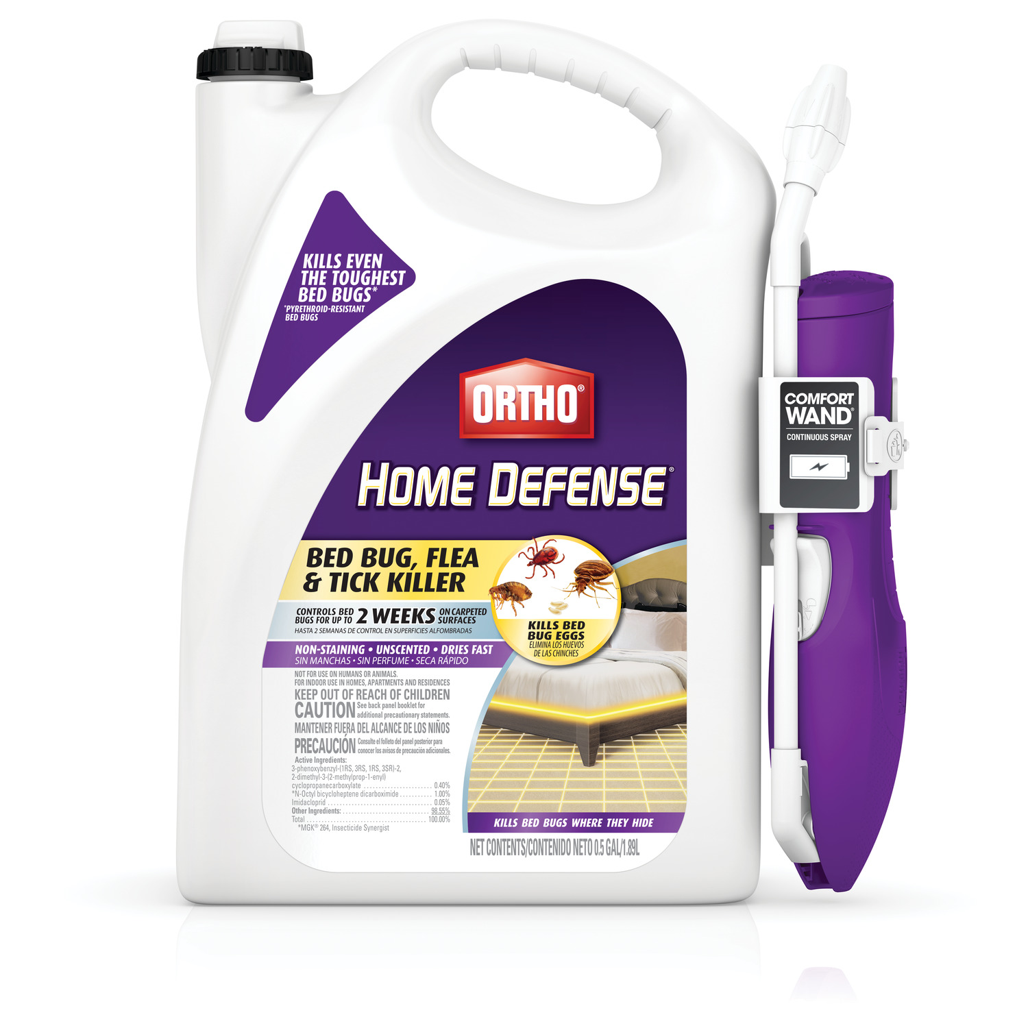Ortho Home Defense Bed Bug Flea And Tick Killer With Comfort Wand 0 5 Gal Walmart Com Walmart Com