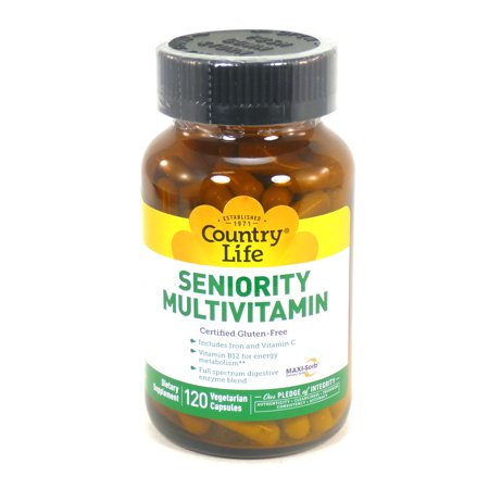 Seniority Multi Vitamin By Country Life 120 Capsules
