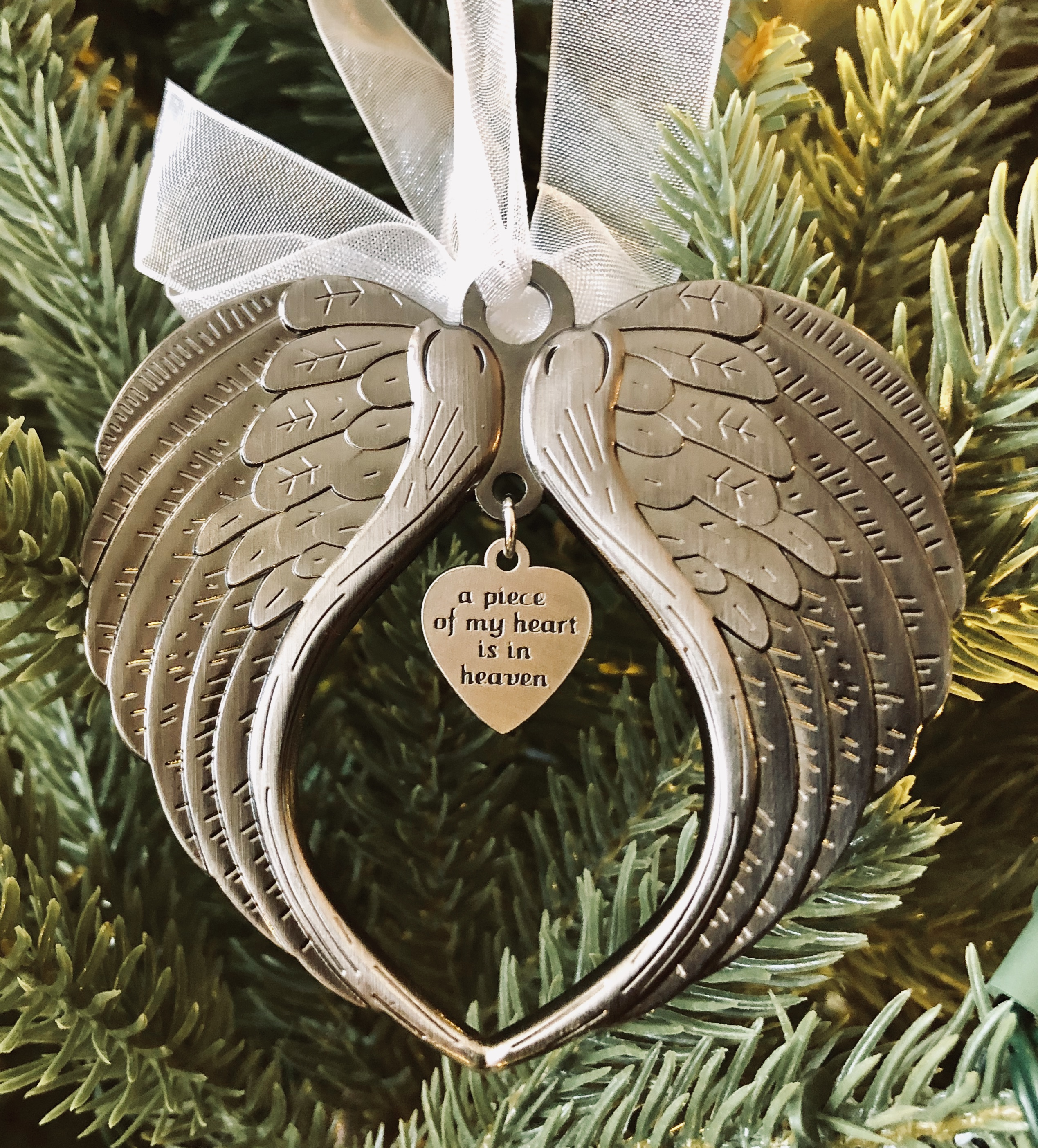 Christmas From Heaven.Loved Ones Tree Decoration Merry Christmas From Heaven Photo