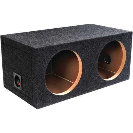 Jensen Dual Bass Boxes - Atrend E12D BBox Series Dual Sealed Bass Box (12