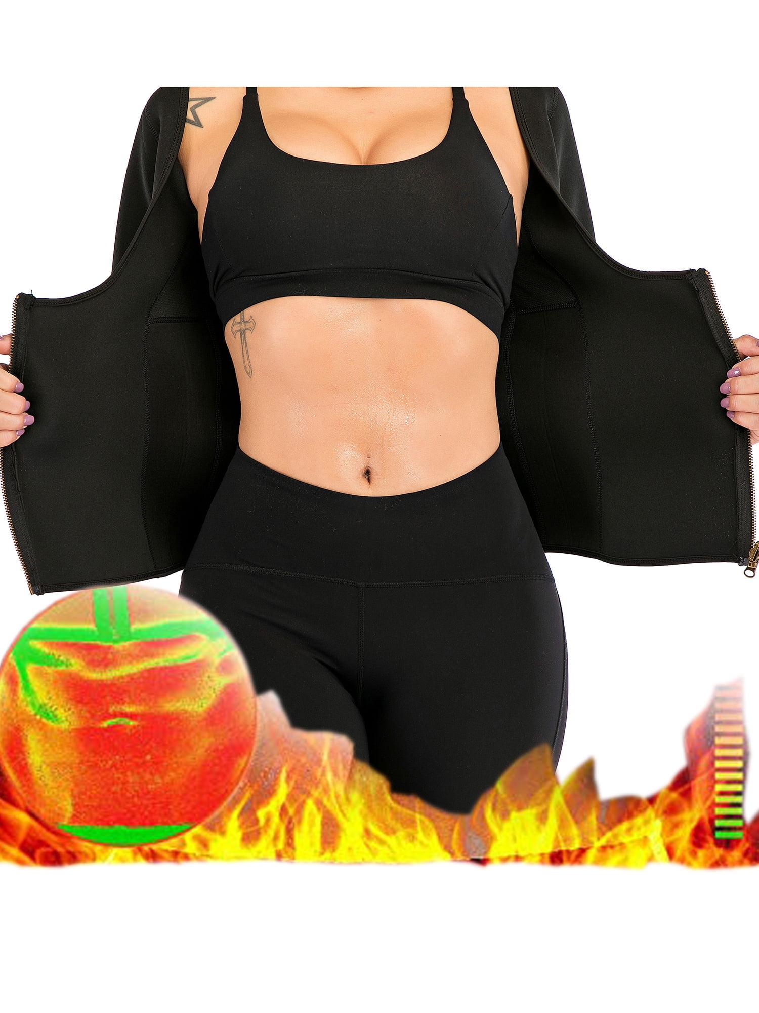 Thermal Neoprene Sport Slimming Shirt Workout Women Body Shaper T-Shirt