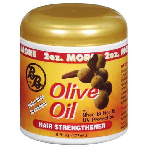 Bronner Brothers Olive Oil Hair Strengthener, 6 oz