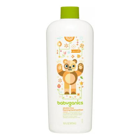 Babyganics Alcohol-Free Foaming Hand Sanitizer Refill, Mandarin, 16 Oz