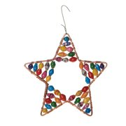 Handcrafted Beaded Copper Star Fair Trade Ornament