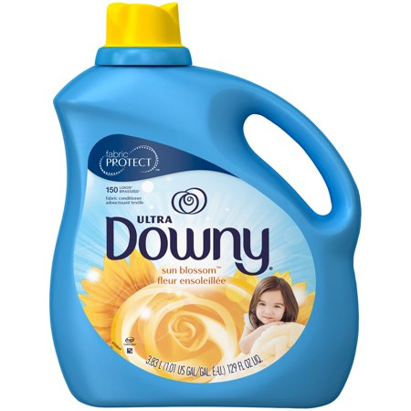 Ultra Concentrated Fabric (Downy Ultra Liquid Fabric Conditioner, Sun Blossom, 150 Loads 129 fl oz )