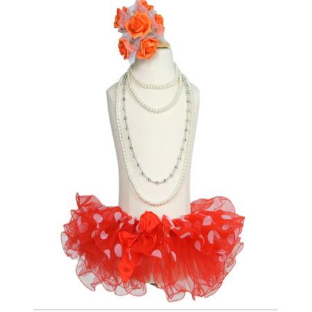 Efavormart Fluffy Polka Dots Girls Ballet Tutu Skirt for Dance Performance Events Wedding Party Banquet Event Dance Skirt](Polka Dot Poodle Skirt)