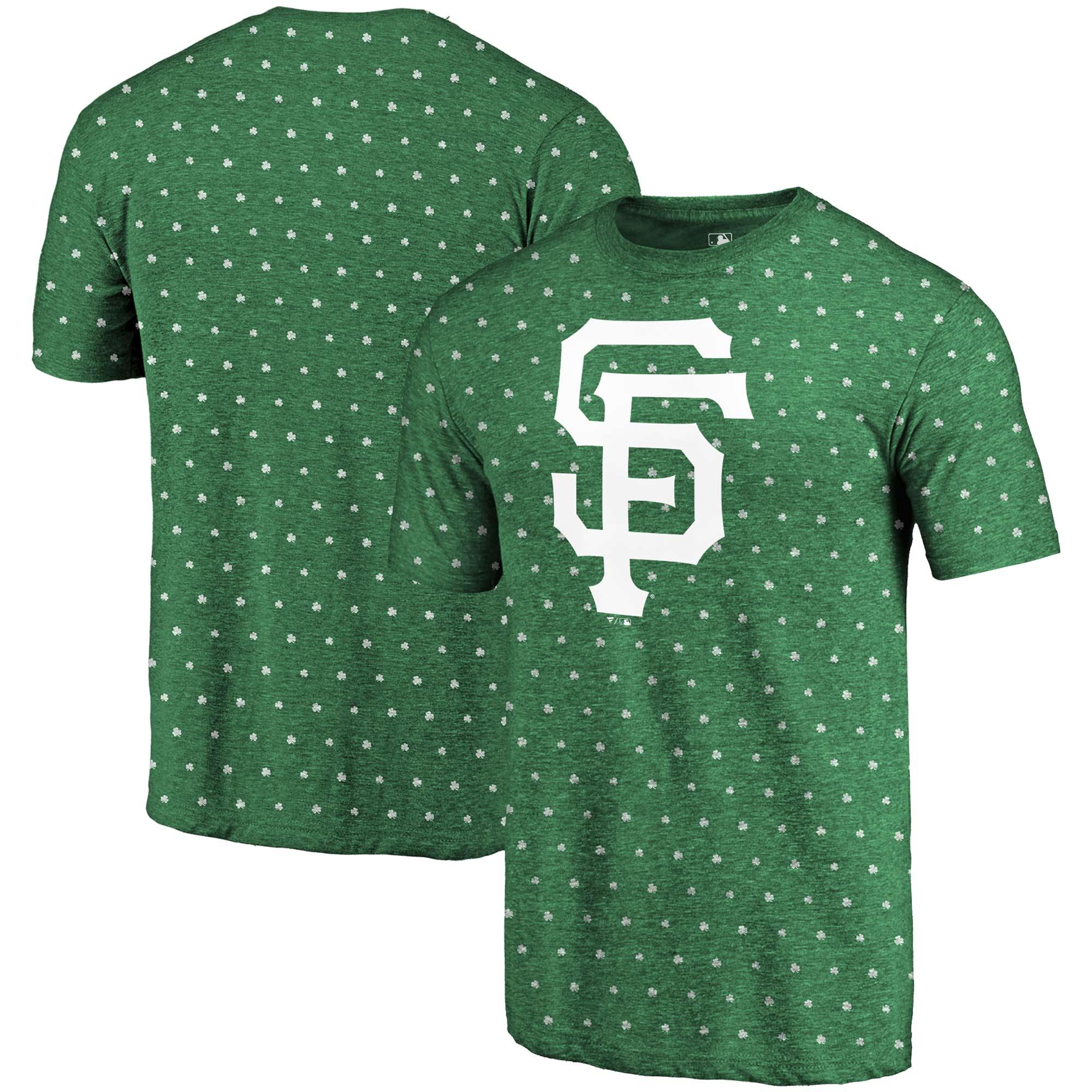 San Francisco Giants Fanatics Branded 2018 St. Patrick's Day All Irish Tri-Blend T-Shirt - Kelly Green