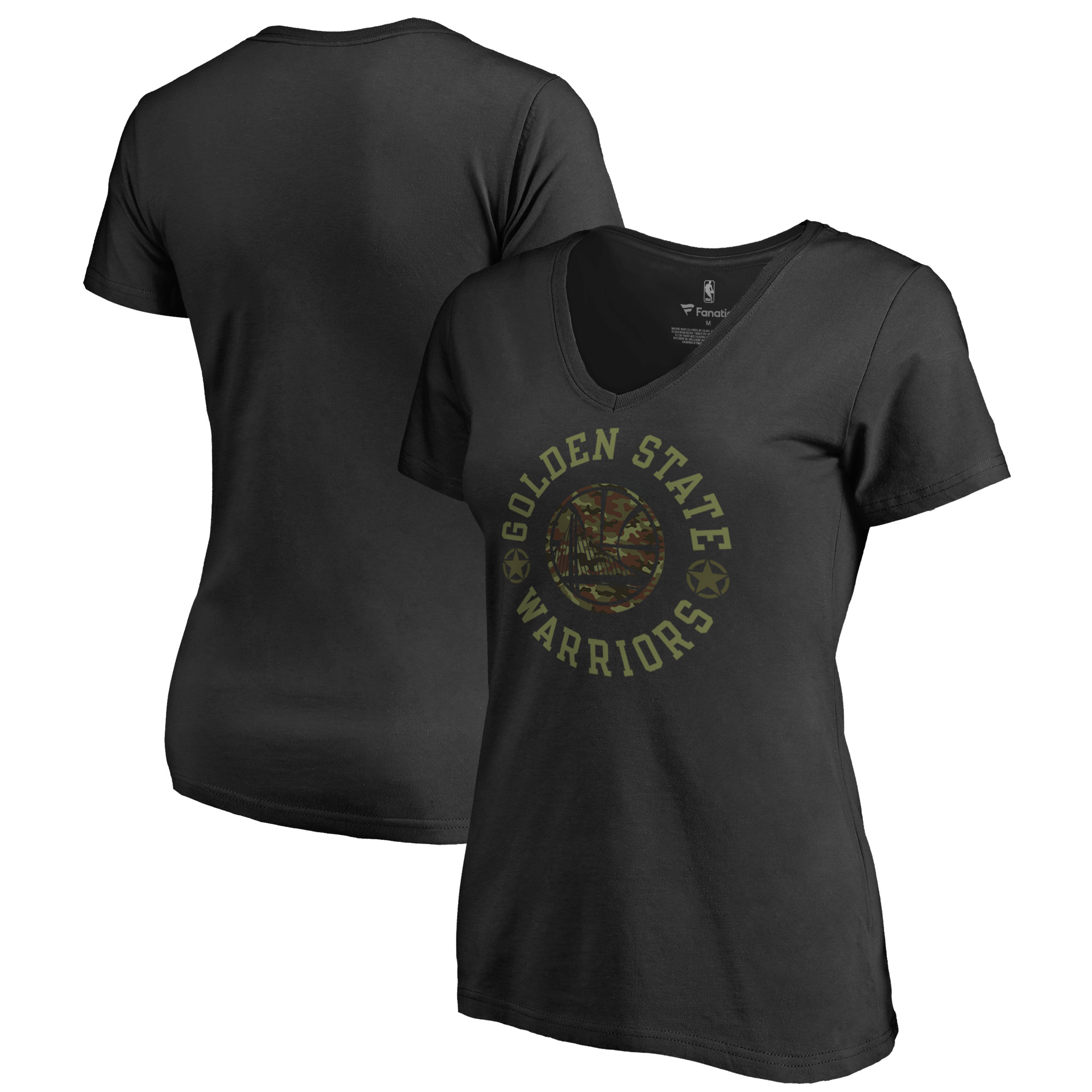 Golden State Warriors Fanatics Branded Women's Liberty V-Neck T-Shirt - Black