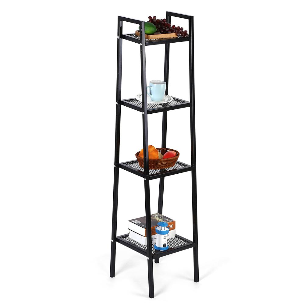 Ashata 35*35*145cm 4 Tier Ladder Shelf Unit Bookshelf Bookcase Book Storage Display Rack Stand