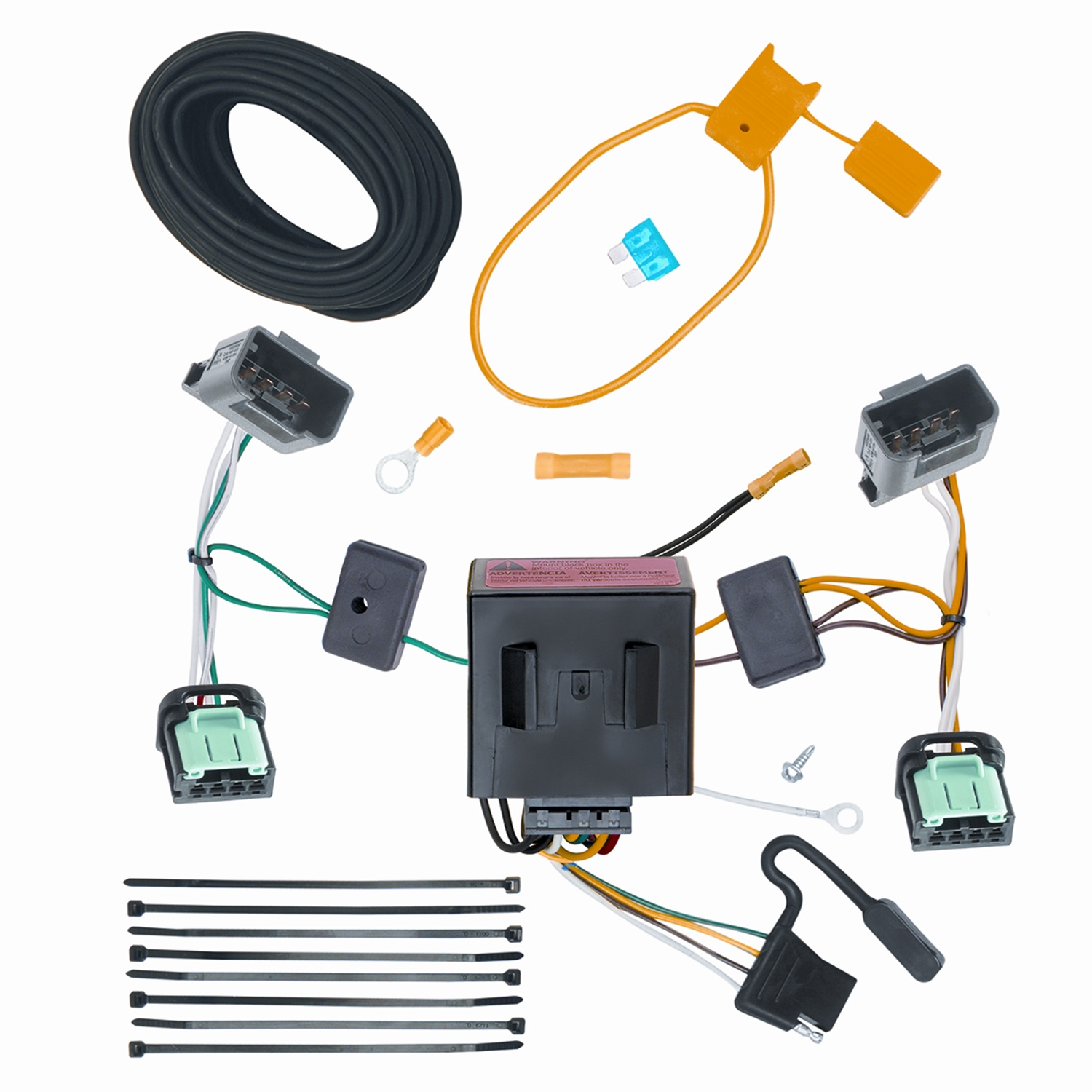 Trailer Wiring Harness Connectors Electrical Diagram Schematics Boat Flat 4 Vehicle To Connector 118531 For 05 10 Vw 5 Pin Plug