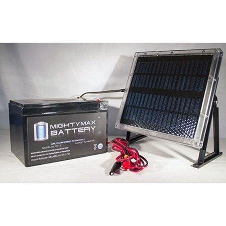 12V 12AH Battery for Data Shield AT5000 + 12V Solar Panel