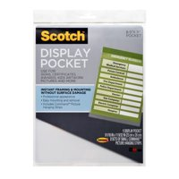 Scotch Mountable Display Pocket with Command Strips, Clear Plastic, Letter Size