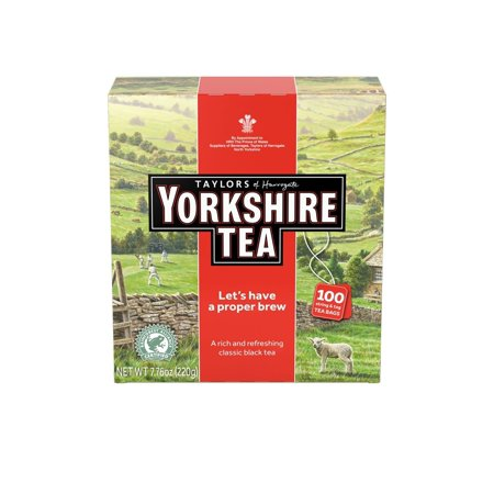 Taylors of Harrogate Yorkshire Black Tea, 100 Tea Bags (Taylor Of Harrogate Loose Tea)