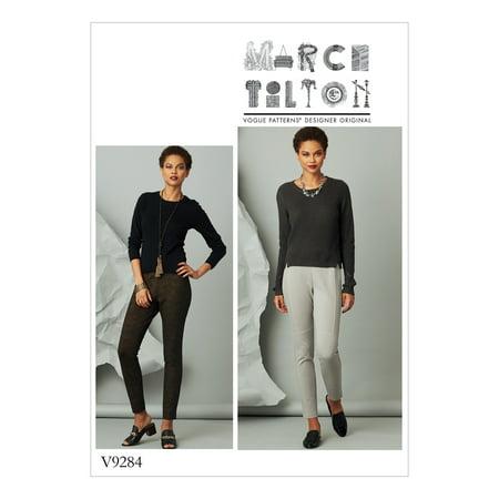Vogue Patterns Sewing Pattern Misses' Seam-Detail Knit Pants-OSZ (Detail Pattern Type)