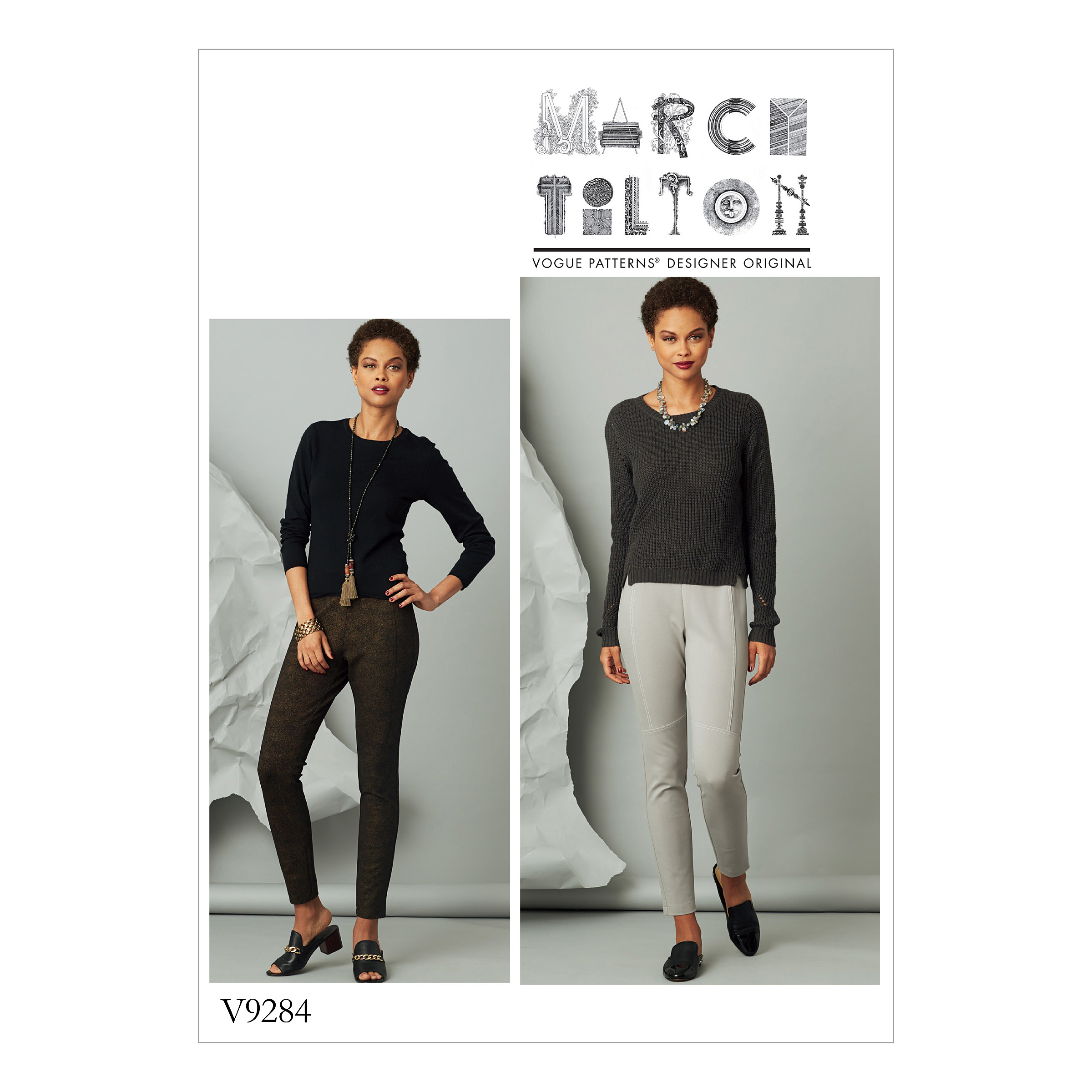 Vogue Patterns Sewing Pattern Misses' Seam-Detail Knit Pants-OSZ