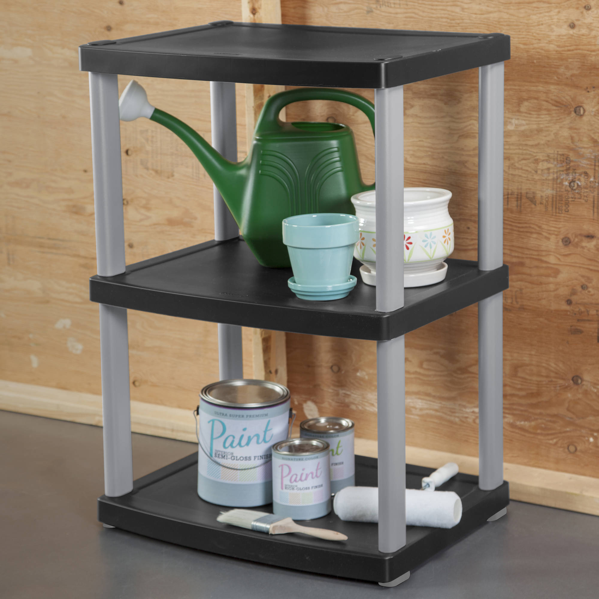 Sterilite 3-Shelf Unit, Black