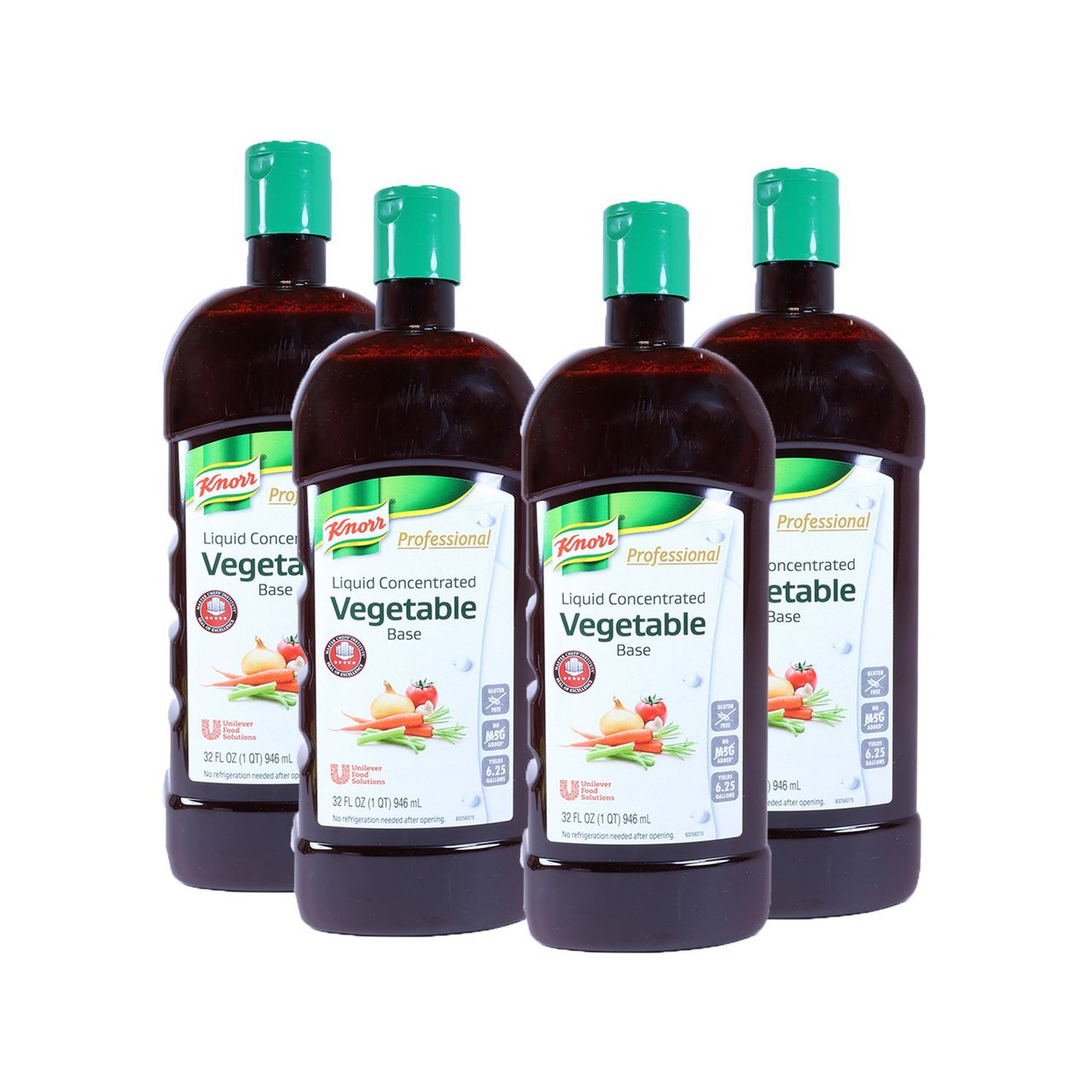 4 PACKS : Knorr Liquid Concentrate Vegetable Base, 32 Ounce