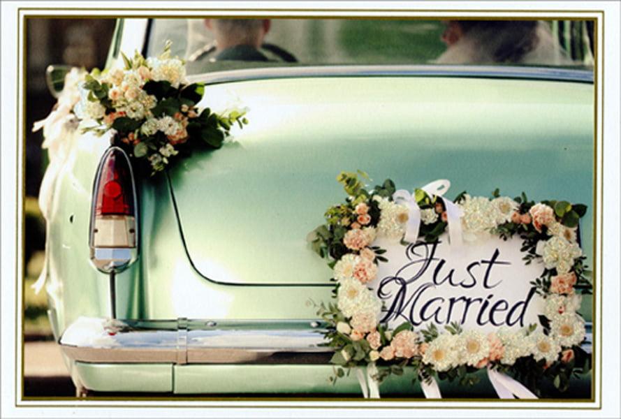 Vintage JUST MARRIED SIGN Wedding Sign by MyPrimitiveBoutique  Vintage Just Married